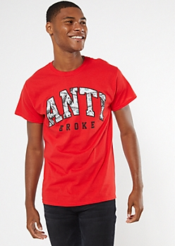 Red Anti Broke Graphic Tee