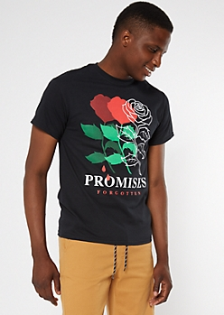 Black Rose Promises Forgotten Graphic Tee