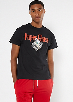 Black Paper Chase Hundreds Graphic Tee