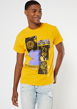 Yellow Promises Collage Graphic Tee
