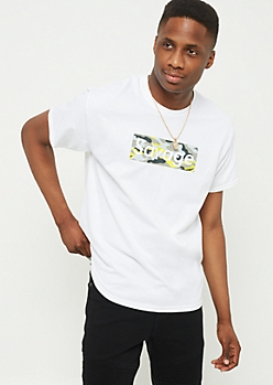 White Camo Box Savage Graphic Tee