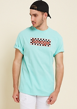 Mint Checkered Savage Box Tee