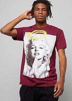 Black Marilyn Monroe Bandana Graphic Tee Graphic Tees Rue21