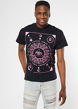 Black What Goes Around Tarot Graphic Tee
