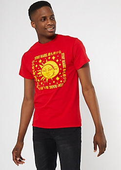 Red Celestial Stay Rare Graphic Tee