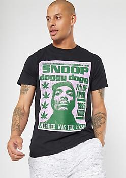 Black 1995 Tour Snoop Dogg Graphic Tee