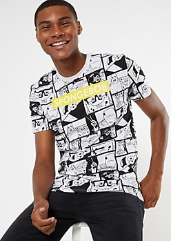 White SpongeBob SquarePants Cameo Graphic Tee