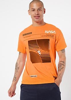 Neon Orange NASA Graphic Tee