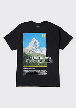 Black National Geographic Matterhorn Graphic Tee