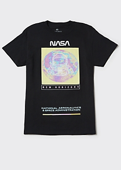 Black NASA New Horizons Graphic Tee
