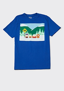 Blue South Park Graphic Tee