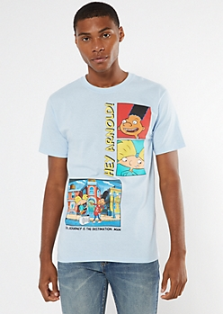 Blue Hey Arnold Journey Graphic Tee