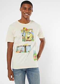 Sand SpongeBob Photo Graphic Tee