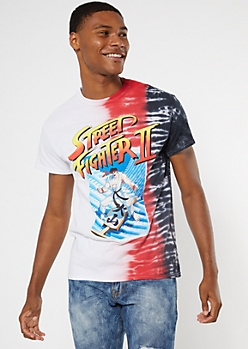 Tie Dye Street Fighter II Graphic Tee