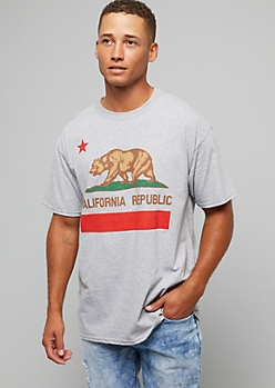 Heather Gray California Bear Graphic Tee