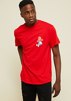 Red Smurfs Graphic Tee