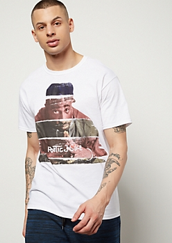 White Paint Poetic Justice Graphic Tee