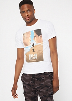 White Graphic Karate Kid Tee