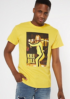 Yellow Kill Bill Scene Graphic Tee