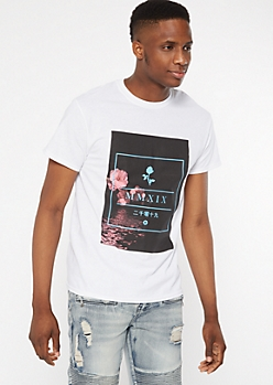 White MMXIX Cherry Blossom Graphic Tee
