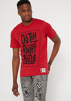 Do The Right Thing Red Graffiti Tee