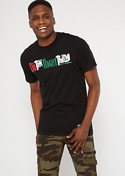 Do The Right Thing Black Script Tee