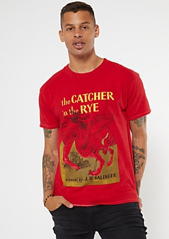 Red Foil The Catcher In The Rye Graphic Tee