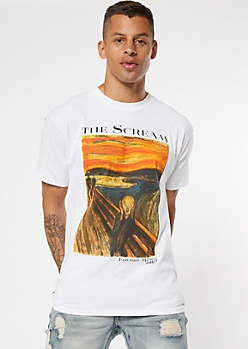 White Scream Art Graphic Tee