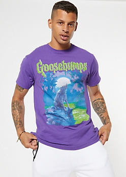 Purple Goosebumps Wolf Graphic Tee