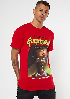 Red Goosebumps Book Cover Graphic Tee