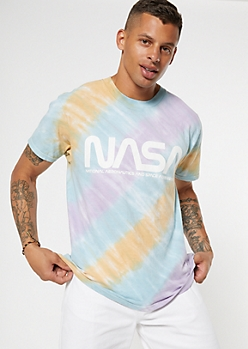 Pastel Tie Dye NASA Graphic Tee