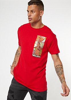 Red Poetic Justice Image Graphic Tee