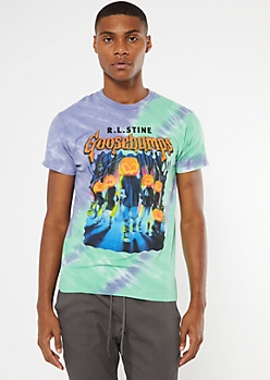 Tie Dye Goosebumps Graphic Tee