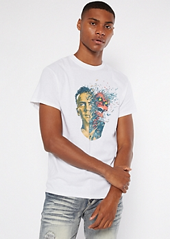 White Out Of Body Logic Graphic Tee