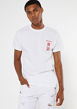 White New Wave Graphic Tee