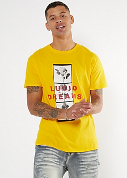 Yellow Lucid Dreams Rose Graphic Tee