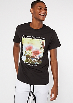 Black Rose Censorship Graphic Tee
