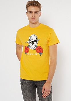 Yellow One Day Cherub Graphic Tee