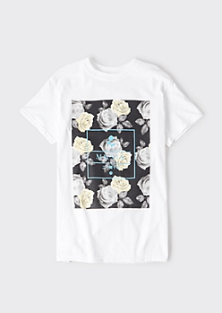 White MMXIX Rose Graphic Tee