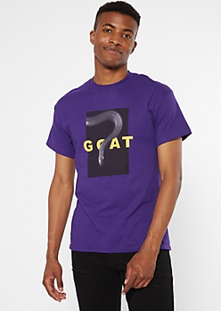 Purple GOAT Snake Graphic Tee
