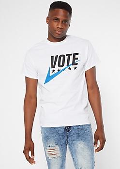 White Vote Check the Box Graphic Tee