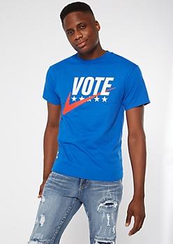Blue Vote Check the Box Graphic Tee