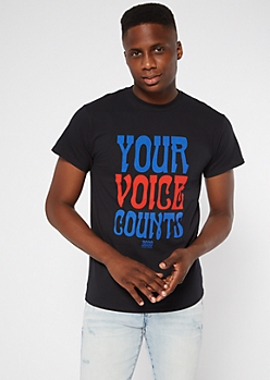 Black Your Voice Counts Graphic Tee
