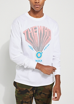 White The Who Long Sleeve Tee