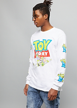White Toy Story Alien Graphic Tee