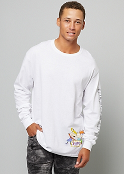 White Rugrats Crew Long Sleeve Graphic Tee