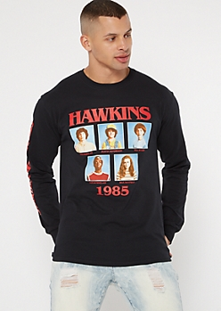Black Stranger Things Class Photo Graphic Tee