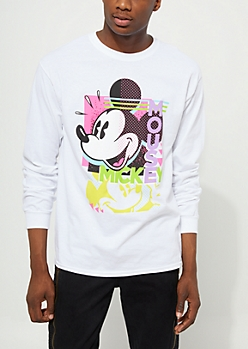White Vintage Mickey Mouse Tee