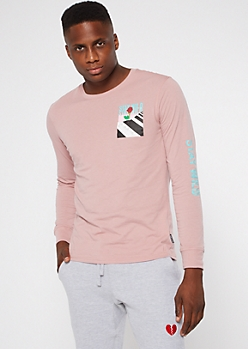 Pink Stay Wild Long Sleeve Graphic Tee