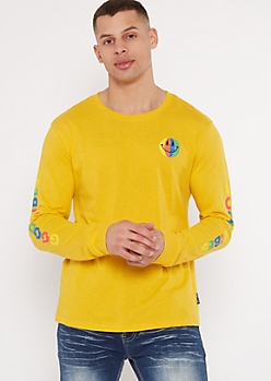 Yellow Smiley Good Vibes Graphic Tee